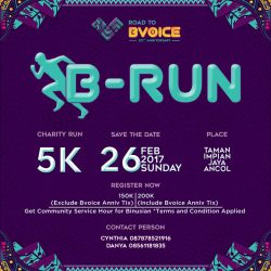 B-RUN, Run for Charity with BVOICE RADIO