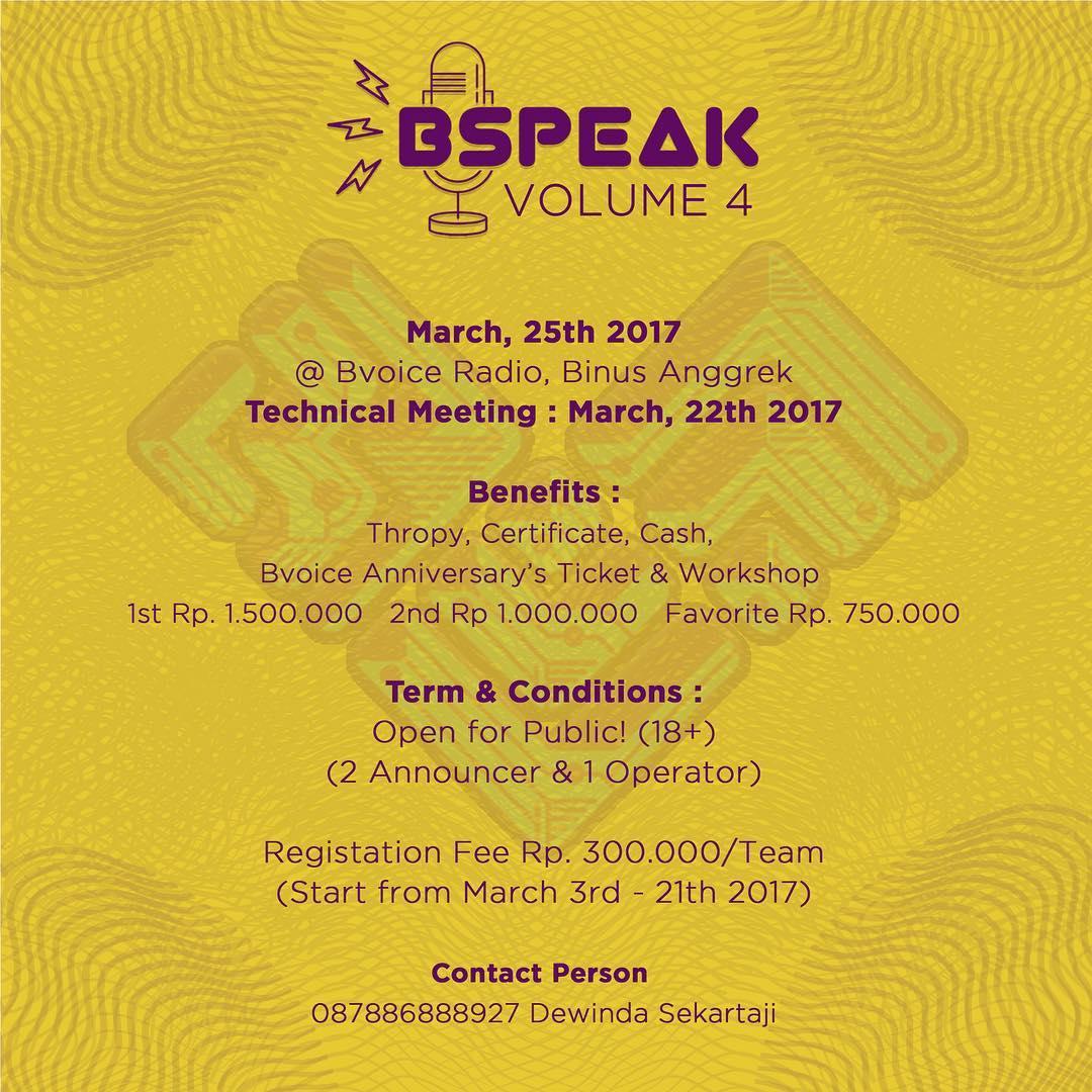 BSpeak Vol. 4