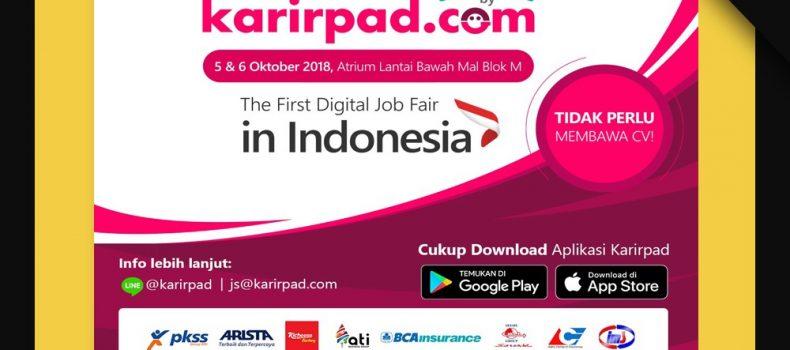 Melamar Kerja di Job Fair Jakarta 2018, Tak Perlu Bawa CV!